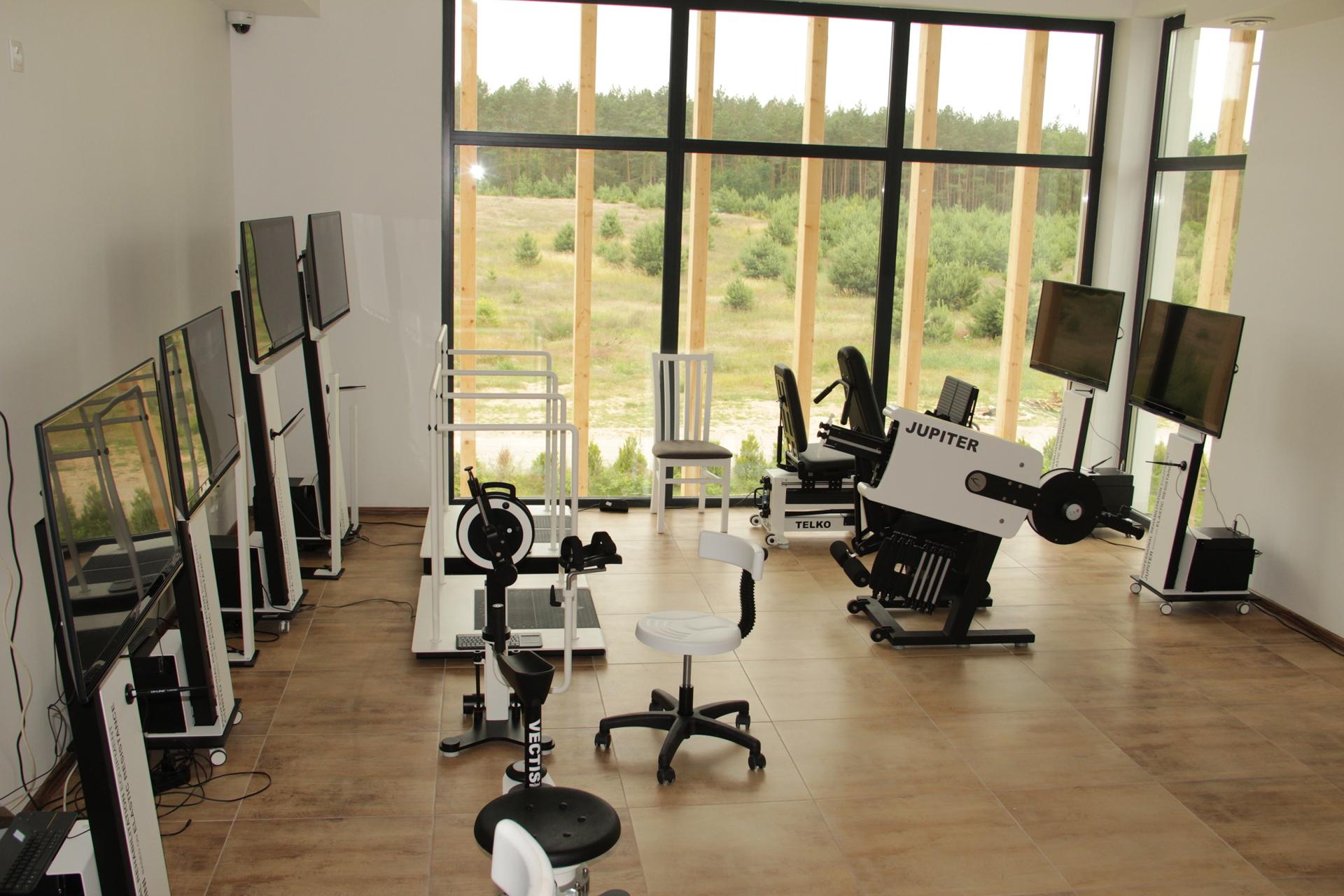 Sala rahabilitacyjna w Leśnym Domu Seniora